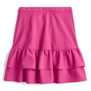 NWT J. Crew Wool flannel ruffle skirt Pink